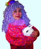Candy The Clown and bunny rabbit