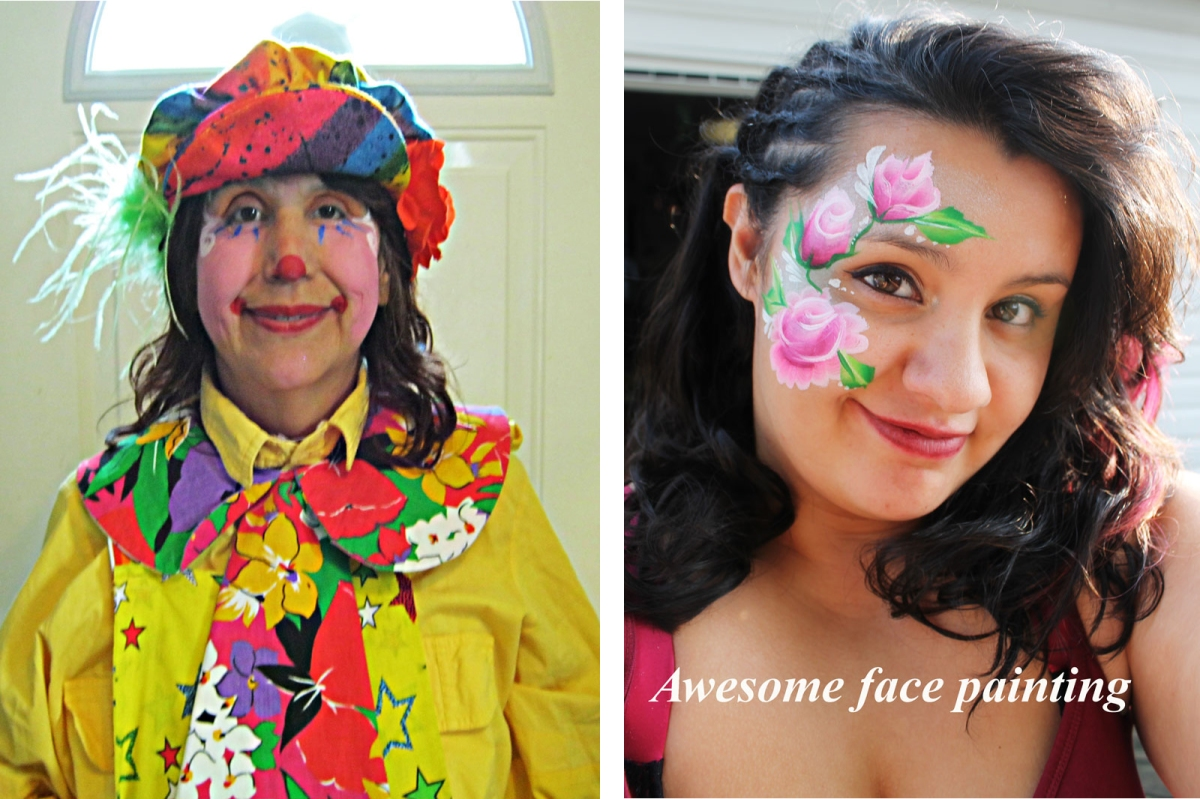 face painting and clown