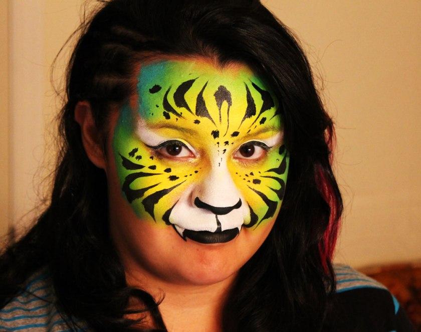 facepainting body art tiger