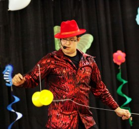 magician performing with diabolo juggling