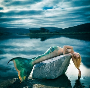 mermaid on the shore