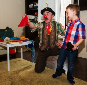 Children's magic with Russian performer.